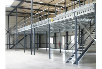 Rack Supported Mezzanine /I-Beam Platform